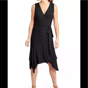 Athleta Windward Black Wrap Dress